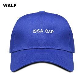 【最大50%OFFセール】WALF (ウルフ) ISSA CAP (BLUE) [6パネル キャップ スナップバックキャップ ストラップバックキャップ ベースボールキャップ ブランド ラップ ヒップホップ ストリート メンズ レディース ユニセックス 帽子 UNISEX] [ブルー]