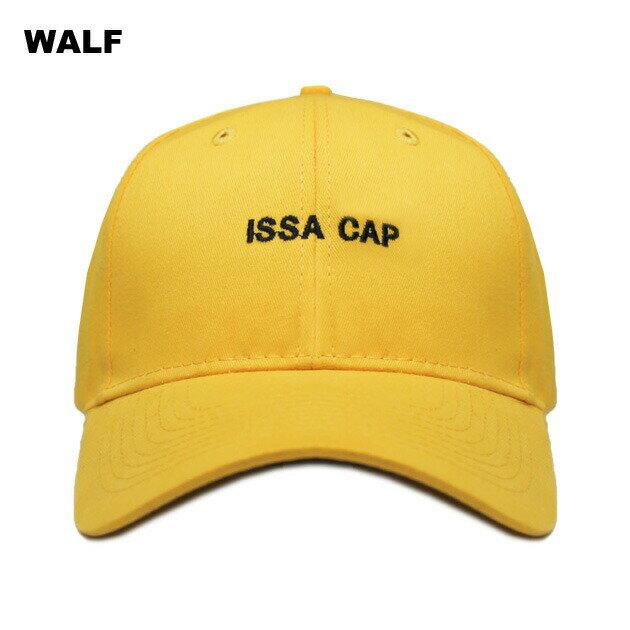 WALF (ウルフ) ISSA CAP (YELLOW) [6パネルキャップ/ベースボール/ラップ/ヒップホップ/21 SAVAGE/UNISEX] [イエロー]