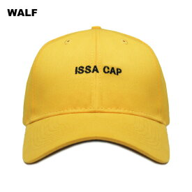 【週末限定 P10倍】WALF (ウルフ) ISSA CAP (YELLOW) [6パネル キャップ スナップバックキャップ ストラップバックキャップ ベースボールキャップ ブランド ラップ ヒップホップ ストリート メンズ レディース ユニセックス 帽子 UNISEX] [イエロー]