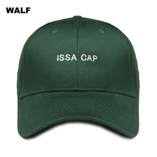 WALF (ウルフ) ISSA CAP (GREEN) [6パネルキャップ/ベースボール/ラップ/ヒップホップ/21 SAVAGE/UNISEX] [グリーン]