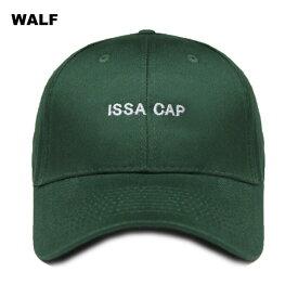 【半額50%OFFセール】WALF (ウルフ) ISSA CAP (GREEN) [6パネル キャップ スナップバックキャップ ストラップバックキャップ ベースボールキャップ ブランド ラップ ヒップホップ ストリート メンズ レディース ユニセックス 帽子 UNISEX] [グリーン]