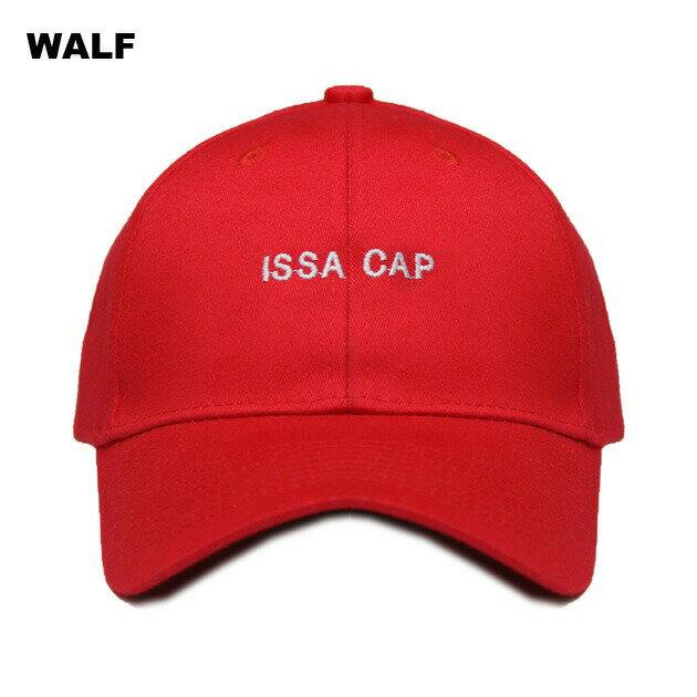 WALF (ウルフ) ISSA CAP (RED) [6パネルキャップ/ベースボール/ラップ/ヒップホップ/21 SAVAGE/UNISEX] [レッド]