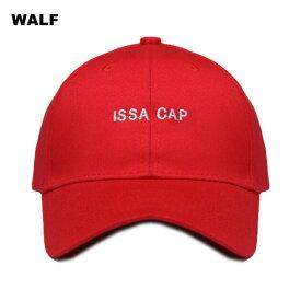 WALF (ウルフ) ISSA CAP (RED) [6パネルキャップ ベースボール ハット ストラップバック ブランド ラップ ヒップホップ ストリート スポーツ スケート メンズ レディース ユニセックス 21 SAVAGE UNISEX] [レッド]