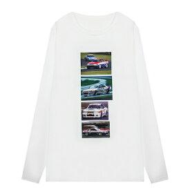 XYLK (シルク) SKYLINE R32 GT-R LONGSLEEVE T-SHIRT (WHITE) [ロングスリーブ Tシャツ ロンT カットソー トップス ブランド スカイライン ロゴ ストリート スポーツ スケート メンズ ユニセックス 長袖] [ホワイト]