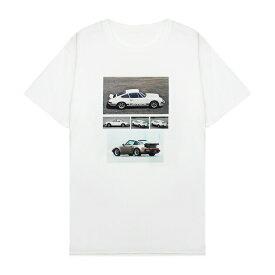 [期間限定 | 30%OFFセール] XYLK (シルク) PORSCHE 911 T-SHIRT (WHITE) [Tシャツ カットソー トップス ブランド ポルシェ ロゴ ストリート スポーツ スケート メンズ ユニセックス 半袖] [ホワイト]