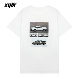 【半額50%OFFセール】XYLK (シルク) PORSCHE 911 T-SHIRT (WHITE) [Tシャツ カットソー トップス ブランド ポルシェ ロゴ グラフィック ストリート スポーツ スケート メンズ レディース ユニセックス 半袖 UNISEX] [ホワイト]