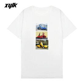 【半額50%OFFセール】XYLK (シルク) LAMBORGHINI T-SHIRT (WHITE) [Tシャツ カットソー トップス ブランド ランボルギーニ ロゴ グラフィック ストリート スポーツ スケート メンズ レディース ユニセックス 半袖 UNISEX] [ホワイト]