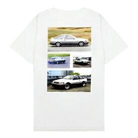 XYLK (シルク) AE86 T-SHIRT (WHITE) [Tシャツ カットソー トップス ブランド ハチロク ドリフト ロゴ ストリート スポーツ スケート メンズ レディース ユニセックス 半袖 UNISEX] [ホワイト]