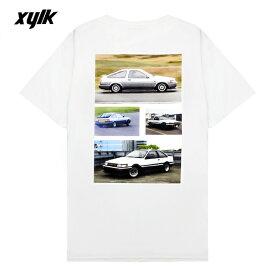 【半額50%OFFセール】XYLK (シルク) AE86 T-SHIRT (WHITE) [Tシャツ カットソー トップス ブランド ハチロク ドリフト ロゴ グラフィック ストリート スポーツ スケート メンズ レディース ユニセックス 半袖 UNISEX] [ホワイト]