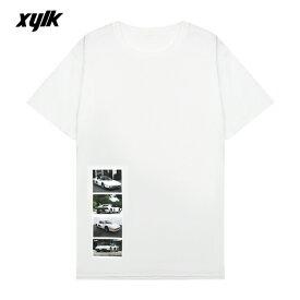 【半額50%OFFセール】XYLK (シルク) FERRARI TESTAROSSA T-SHIRT (WHITE) [Tシャツ カットソー トップス ブランド フェラーリ テスタロッサ ロゴ グラフィック ストリート スポーツ スケート メンズ レディース ユニセックス 半袖 UNISEX] [ホワイト]