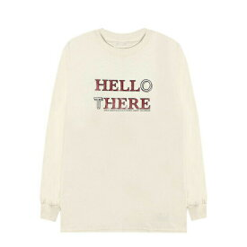 BRIU HOMME (ブリウ オム) HELL HERE HELLO THERE LONGSLEEVE (KHAKI) [ロングスリーブ Tシャツ カットソー メンズ ユニセックス] [カーキ]