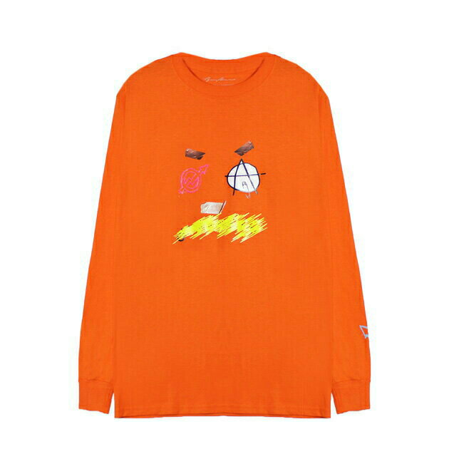 BRIU HOMME (ブリウ オム) DEFINITION LONGSLEEVE (ORANGE) [ロングスリーブ/Tシャツ/カットソー/プリント/グラフィック/ロゴ/UNISEX] [オレンジ]