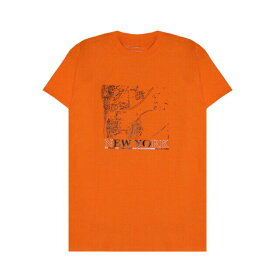 BRIU HOMME (ブリウ オム) WE GREW HERE YOU FLEW HERE T-SHIRT (ORANGE) [Tシャツ カットソー メンズ ユニセックス] [オレンジ]