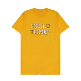 BRIU HOMME (ブリウ オム) HELL HERE HELLO THERE T-SHIRT (MUSTARD YELLOW) [Tシャツ カットソー メンズ ユニセックス] [マスタード イエロー]
