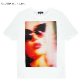 PASSARELLA DEATH SQUAD × PENTHOUSE (パサレラ デス スクアッド) NICOLE ANISTON T-SHIRT (WHITE) [Tシャツ カットソー トップス ブランド ペントハウス アート グラフィック ストリート メンズ レディース ユニセックス 半袖 UNISEX] [ホワイト]