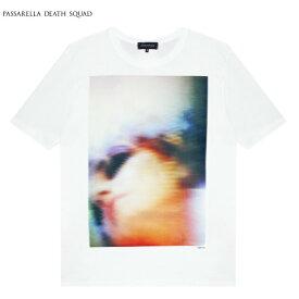 PASSARELLA DEATH SQUAD × PENTHOUSE (パサレラ デス スクアッド) LILY KRIS RYAN T-SHIRT (WHITE) [Tシャツ カットソー トップス ブランド ペントハウス アート グラフィック ストリート メンズ レディース ユニセックス 半袖 UNISEX] [ホワイト]