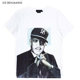 LES BENJAMINS (レス ベンジャミンズ) HOV X T-SHIRT (WHITE) [Tシャツ カットソー トップス ブランド アート ポートレイト ロゴ ストリート メンズ ユニセックス 半袖] [ホワイト]