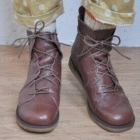 GROW NATURALLY グロウナチュラリー ショートブーツ GN-7 レディース ブーツ 編み上げ 小さいサイズ 大きいサイズ 本革 黒 レザー キャメル ブラウン ブラック 予約アイテム