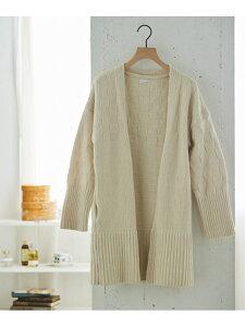 [Rakuten Fashion]【SALE/30%OFF】モコモコルーム ichimatsu knit ガウン une nana cool ウンナナクール インナー/ナイトウェア ルームウェア/はおり ホワイト パープル【RBA_E】【送料無料】