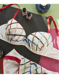 [Rakuten Fashion]【SALE/45%OFF】Multi check 3/4カップブラジャー une nana cool ウンナナクール インナー/ナイトウェア ブラジャー ホワイト グリーン ネイビー【RBA_E】