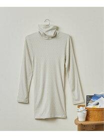 吸湿発熱 プリント enman chidori タートルネックシャツ une nana cool ウンナナクール インナー/ナイトウェア インナー/ナイトウェアその他 グレー ブルー【RBA_E】[Rakuten Fashion]