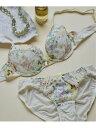 [Rakuten Fashion]【WEB限定】Floral shower ブラ&ショーツセット une nana cool ウンナナクール インナー/ナイトウェア ブラ/ショーツ ホワイト ブルー