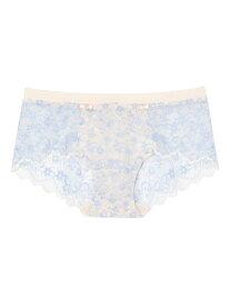 Botanic shadow cotton ショーツ une nana cool ウンナナクール インナー/ナイトウェア ショーツ ピンク ブルー[Rakuten Fashion]