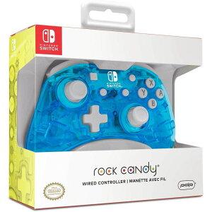 Nintendo switch ニンテンドースイッチ コントローラー 超軽量 有線 ROCK CANDY ブルー