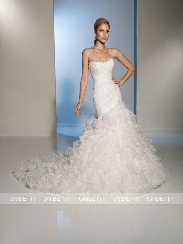 ウェディングドレス ウエディングドレス マーメイドライン サイズオーダー 結婚式 花嫁 披露宴 二次会