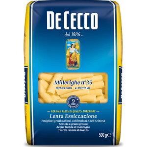 ディ・チェコ No.25 ミッレリーゲ ゆで時間13分前後 500g イタリア産 セモリナパスタMillerighe n° 25 DeCecco ディチェコ