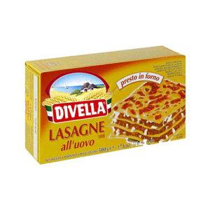ラザニア ディヴェッラ 卵入りパスタ ラザーニェ容量:500g イタリア産 デュラム小麦のセモリナパスタ Lasagne all'uovo/Divella