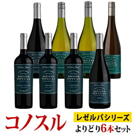 コノスル レゼルバ・エスペシャル シリーズ よりどり6本セット ヴィーニャ・コノスル 赤 750ml Vina Cono Sur[Cono Sur Reserva Especial]チリ 赤ワイン 白ワイン ワインセット 送料無料 あす楽※ご注文選択本数によって発送日が変更となる場合がございます。
