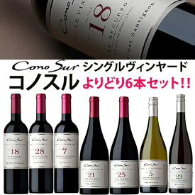 コノスル シングル・ヴィンヤード シリーズ よりどり6本セット ヴィーニャ・コノスル 赤 750ml Vina Cono Sur[Cono Sur Single Vineyard]チリ 赤ワイン 白ワイン ワインセット 送料無料※ご注文選択本数によって発送日が変更となる場合がございます。