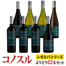コノスル レゼルバ・エスペシャル シリーズ よりどり12本セット ヴィーニャ・コノスル 750ml Vina Cono Sur[Cono Sur Reserva Especial]チリ 赤ワイン 白ワイン ワインセット 送料無料