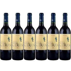 【送料無料】6本セット シャトー・シトラン[2007]オーメドック 赤 750ml Haut-Medoc[Chateau Citran] フランス ボルドー 赤ワイン※クール便・離島など別途追加送料エリアあり