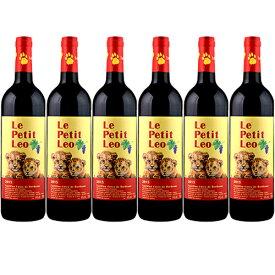 【送料無料】ル プティ レオ 6本セット[2016年]赤 750ml×6本 ボルドー Le Petit Leo[Clos Leo]フランス ボルドー カスティヨン・コート・ド・ボルドー 赤ワイン クロ・レオ