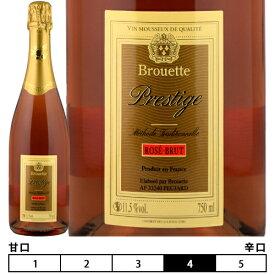 シャンパーニュ方式[N/V]メトード・トラディショナル 泡・ロゼ 750ml [ブルエット・プレスティージュ・ロゼ・ブリュット]Methode Traditionnelle Brouette Prestige Rose Brut
