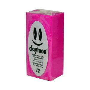 MODELING CLAY(モデリングクレイ) claytoon(クレイトーン) カラー油粘土 マゼンダ 1/4bar(1/4Pound) 6個セット