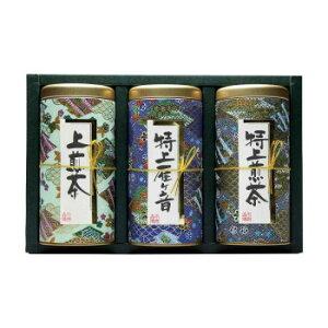 宇治森徳 日本の銘茶 ギフトセット(上煎茶100g・特上雁ケ音100g・特上煎茶100g) MY-40W