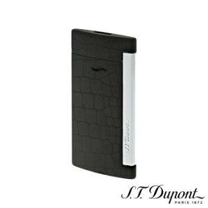 S.T. Dupont エス・テー・デュポン ライター スリム 7 クロコダンディ ブラック&クローム 027733≪027733≫