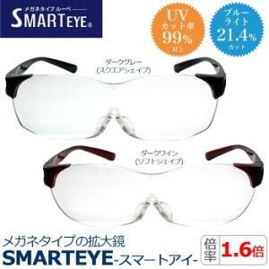 メガネタイプの拡大鏡 SMARTEYE スマートアイ ベーシックタイプ 1.6倍≪ダークグレー・SM-01-1≫