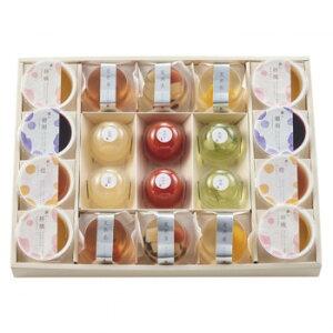 井桁堂 夏果菓(和の装いのゼリーセット) 特大 4箱
