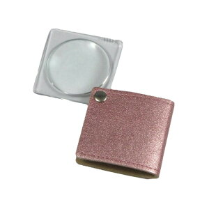 MIZAR(ミザールテック) 3.0倍 折りたたみ 携帯用ポケットルーペ RK-30PPK ピンク