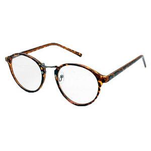 RESA レサ 老眼鏡に見えない 40代からのスマホ老眼鏡 丸メガネタイプ ブラウンデミ RS-09-1≪+1.00≫