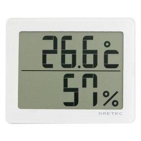 dretec(ドリテック) デジタル温湿度計「アクリア」 O-226WT ホワイト