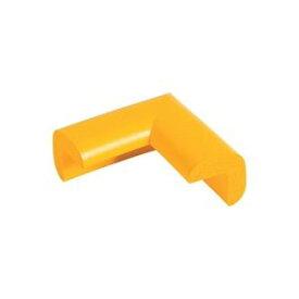 (まとめ)カーボーイ 安心クッション L字コーナー 細 黄色 4個組 【×20セット】