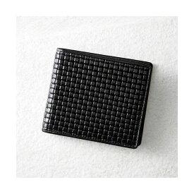 牛革ブロックメッシュ型押し錦蛇札入れ(ブラック) K91009645