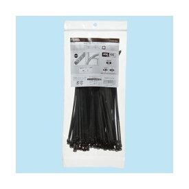 (まとめ) オーム電機 耐候性ロックタイ 200mm 黒 LT-200W100BK 1袋(100本) 【×5セット】