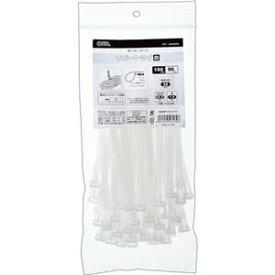 (まとめ) オーム電機 幅広ロックタイ 250mm 白 WLT-250W50WH 1袋(50本) 【×10セット】