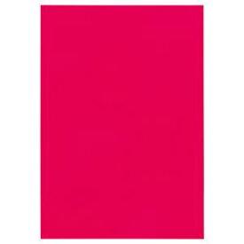 (まとめ) TANOSEE 色画用紙 四つ切 あか 1パック(10枚) 【×15セット】